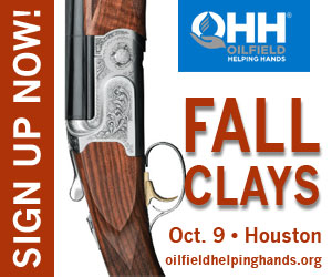 Ad - Sign up now for Fall Clays, October 9 in Houston with Oilfield Helping Hands.