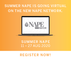 Ad - Summer NAPE is going virtual! 11-27 August 2020. Register Now!