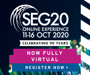 Ad - SEG20 Online Experience 11-16 Oct 2020. Now Fully Virtual. Register Now.