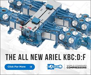 Ad - THE ALL NEW ARIEL KBC:D:F. Ariel World Standard Compressors. Click for more.