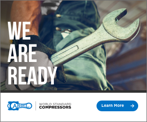 Ad – WE ARE READY. Airel World Standard Compressors. Learn More.